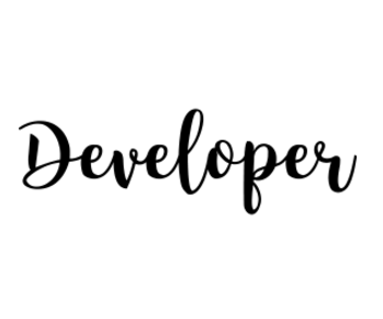 Developer logo black and white