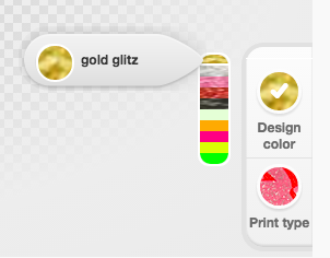 gold glitz printing option
