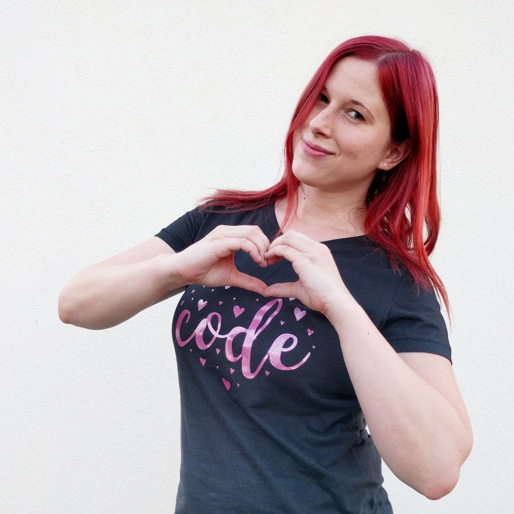 Denise Nepraunig Code Heart Developer T-Shirt NERDpraunig