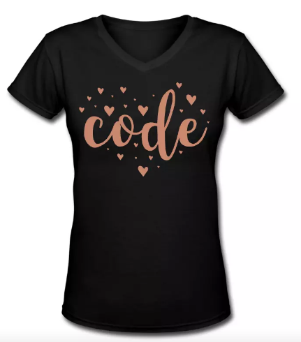 Code Heart Developer T-Shirt NERDpraunig