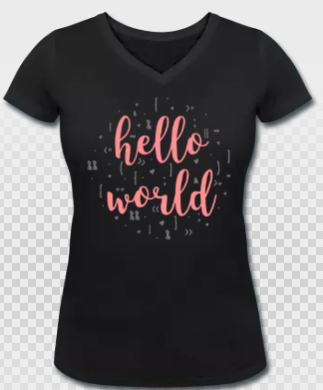 Denise Nepraunig Hello World Developer Shirt NERDpraunig